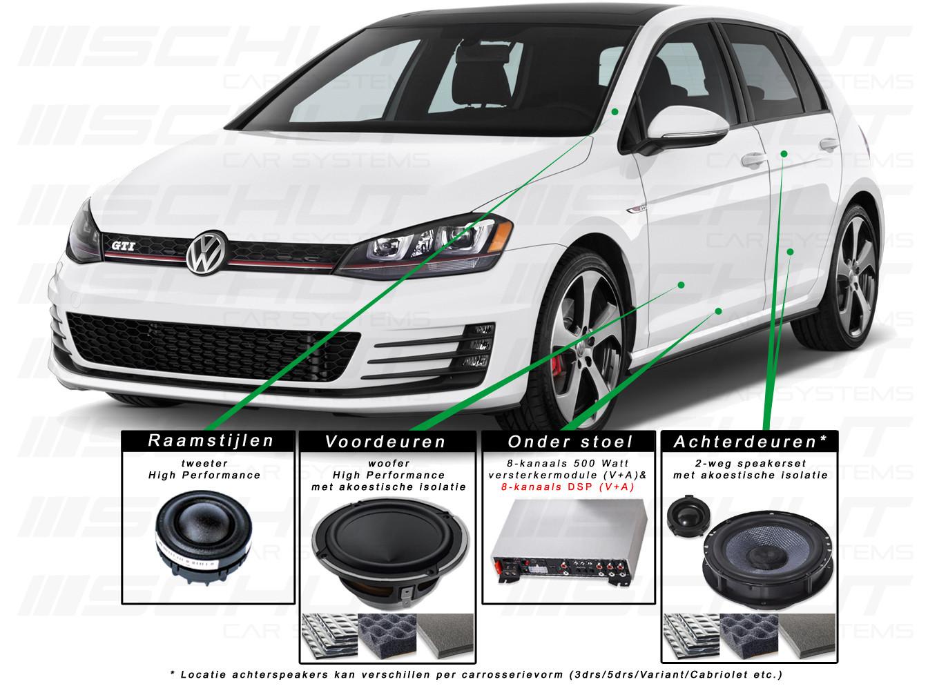vw golf 7 audio upgrade meer dan alleen een speaker upgrade. Black Bedroom Furniture Sets. Home Design Ideas