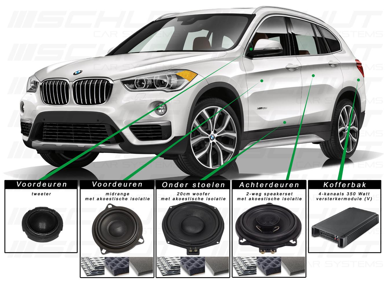 BMW X1 Audio Upgrade Set 1