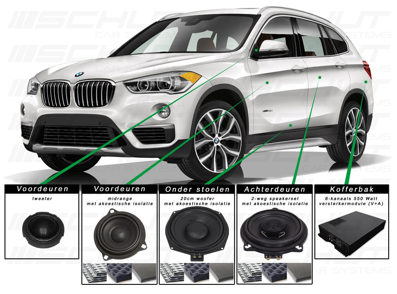 BMW X1 Audio Upgrade Set 2