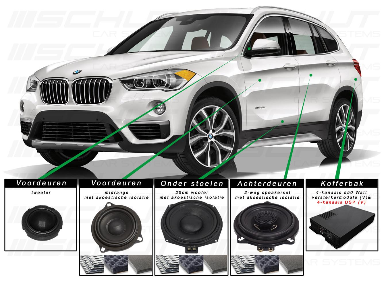 BMW X1 Audio Upgrade Set 3