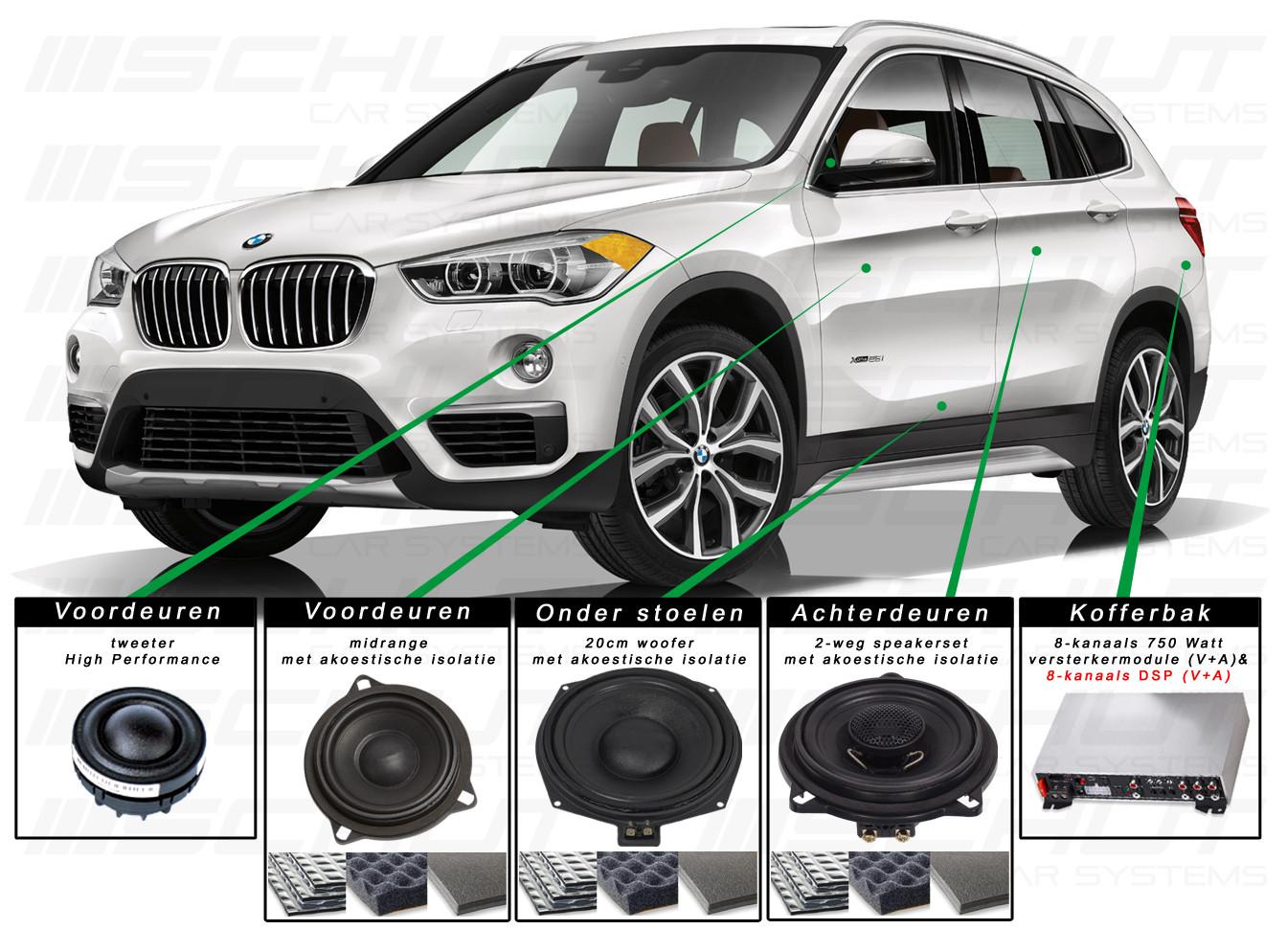 BMW X1 Audio Upgrade Set 5