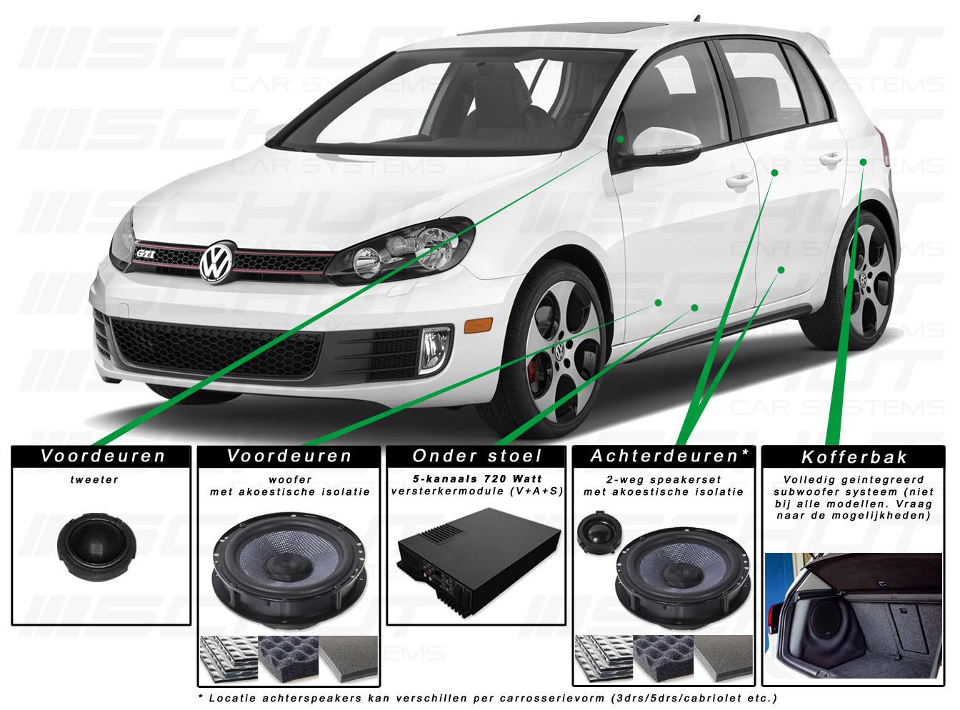 vw golf 6 audio upgrade meer dan alleen een speaker upgrade. Black Bedroom Furniture Sets. Home Design Ideas