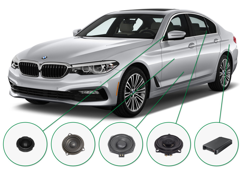 BMW 5 audio upgrade set 1