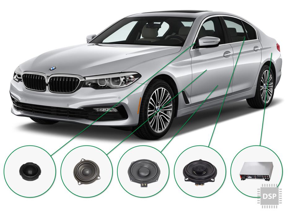 BMW 5 audio upgrade set 4