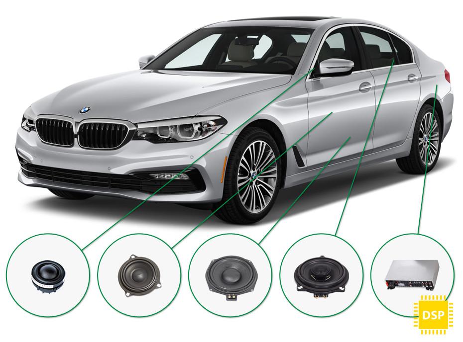 BMW 5 audio upgrade set 5