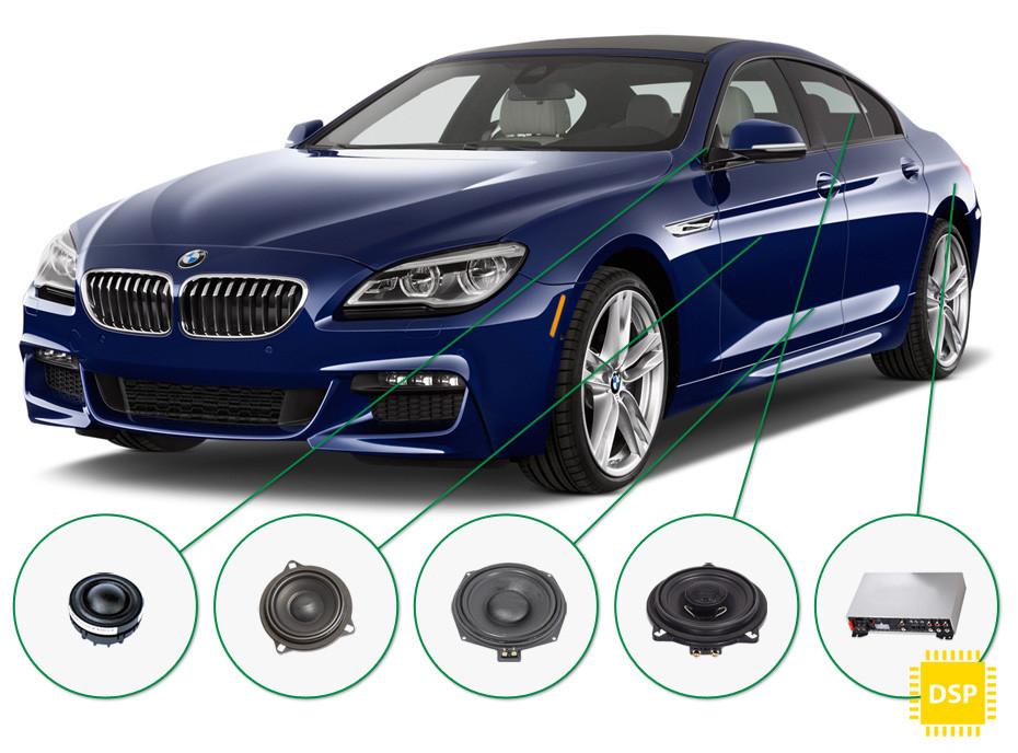 BMW 6 audio upgrade set 5