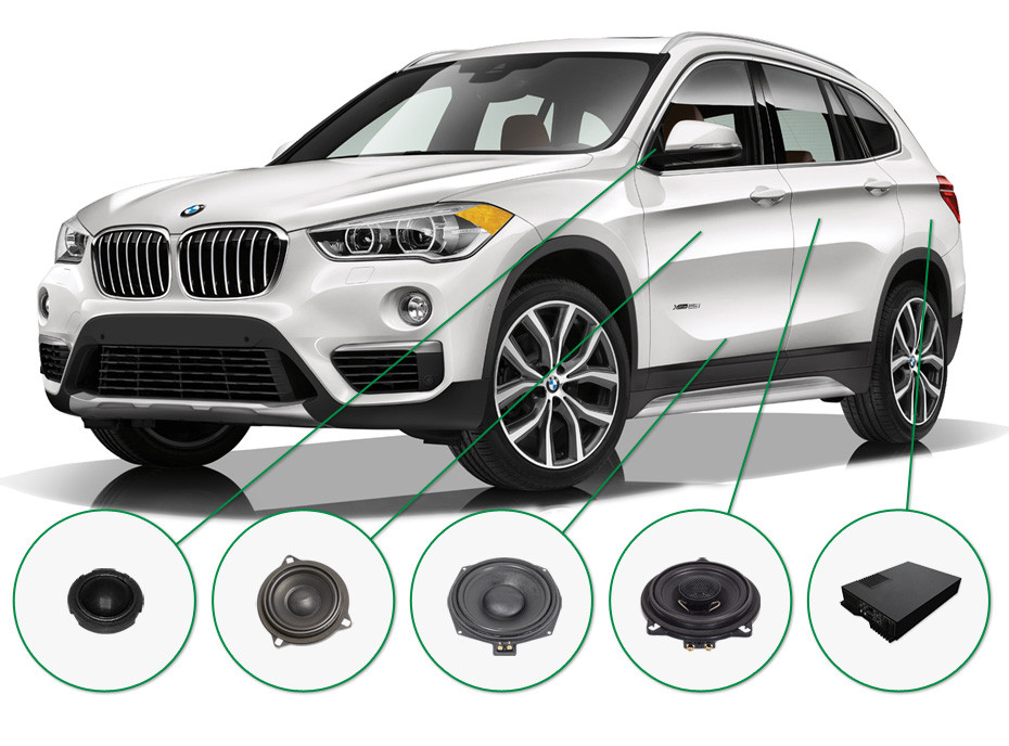 BMW X1 audio upgrade set 2