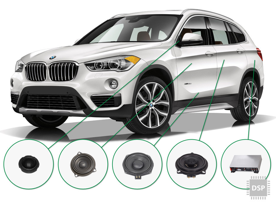 BMW X1 audio upgrade set 4