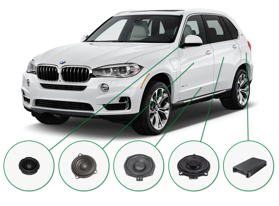 BMW X5 audio upgrade set 1