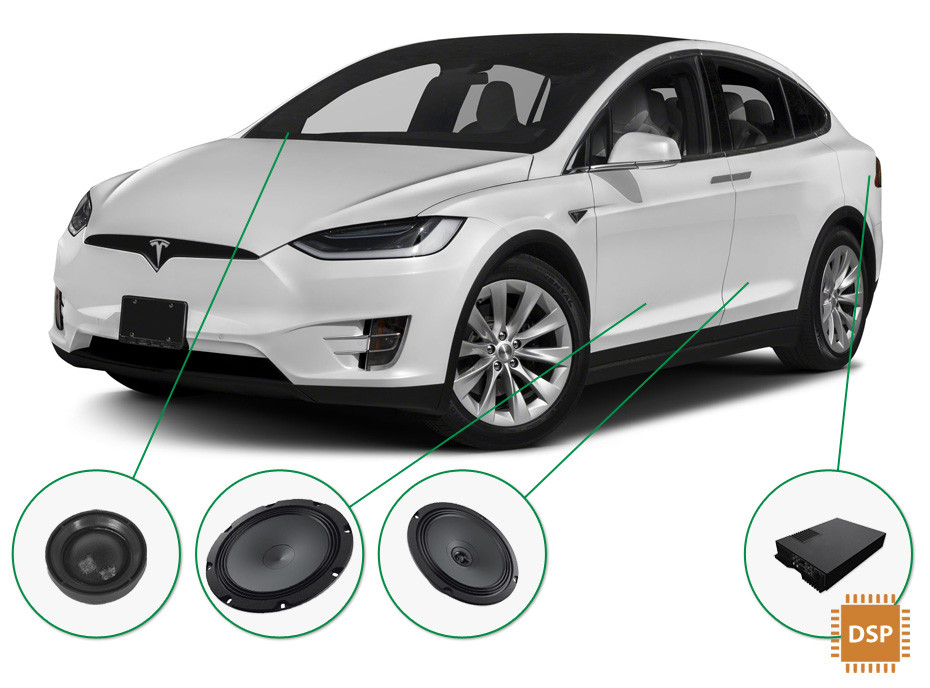 Tesla Model X Audio Upgrade Set 1