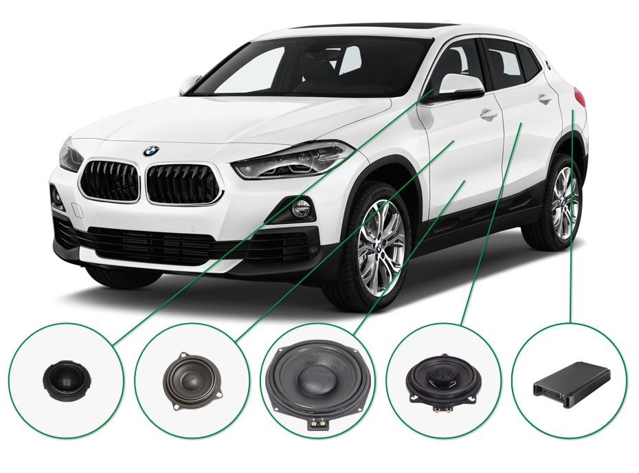 BMW X2 audio upgrade set 1