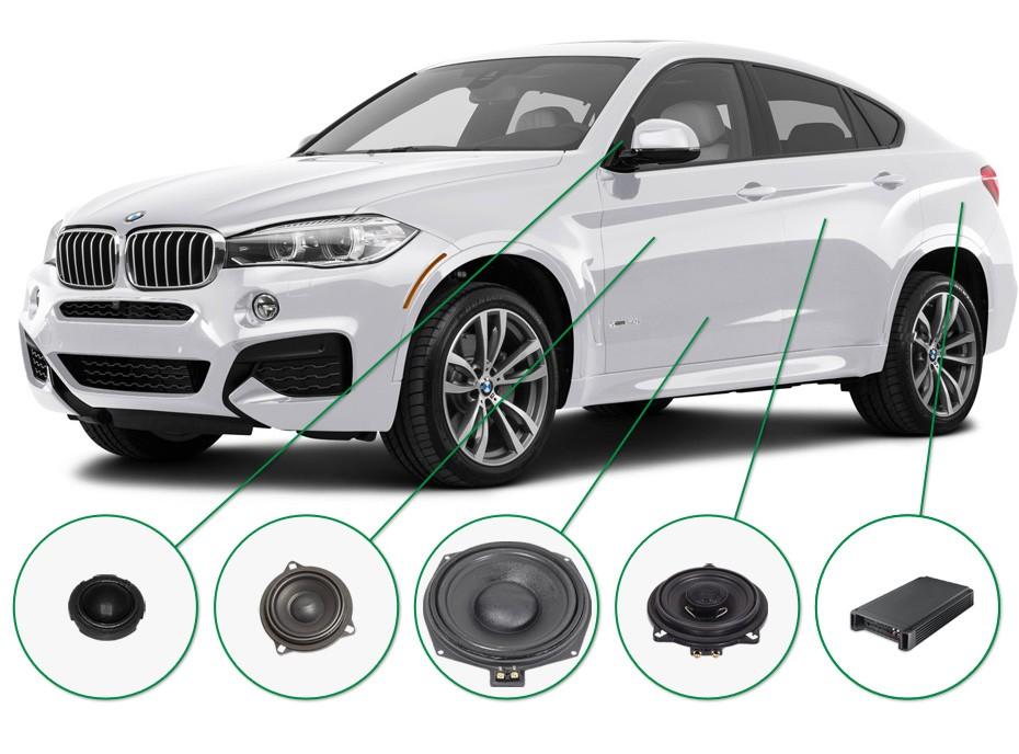BMW X6 audio upgrade set 1
