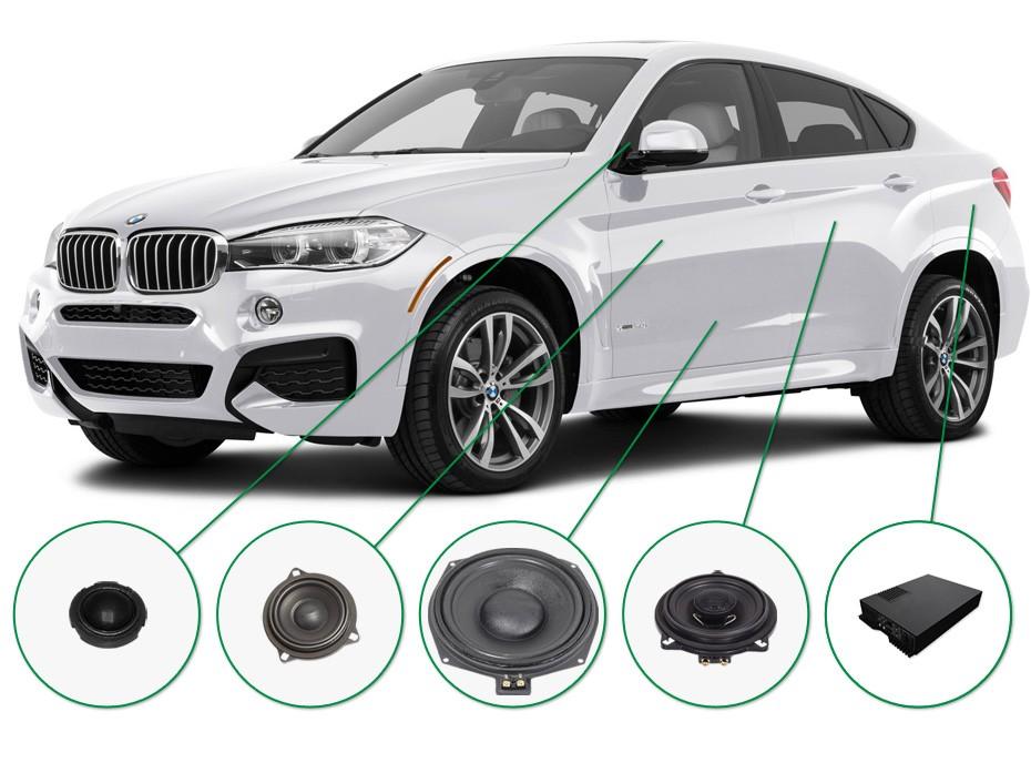 BMW X6 audio upgrade set 2