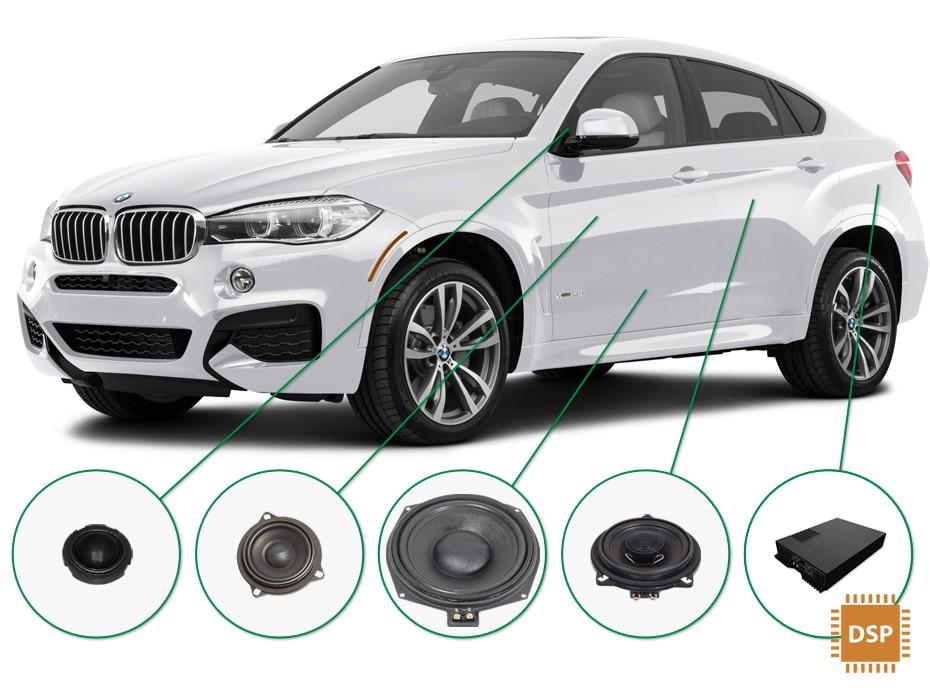 BMW X6 audio upgrade set 3