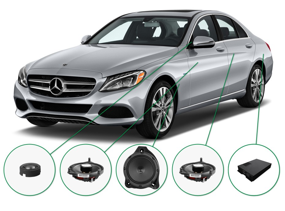 Mercedes C Klasse audio upgrade set 1