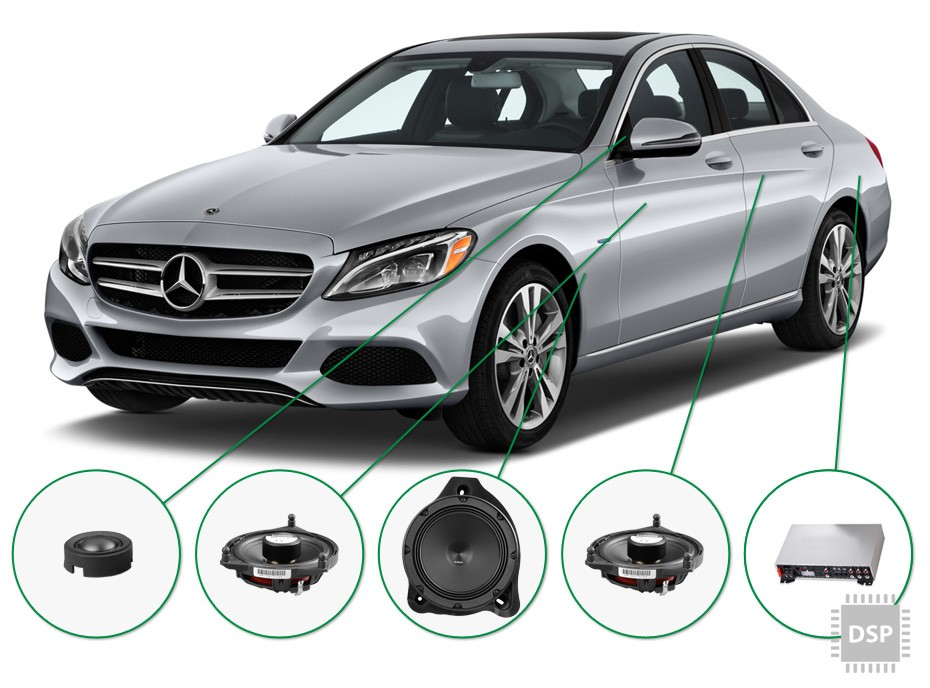 Mercedes C Klasse audio upgrade set 2