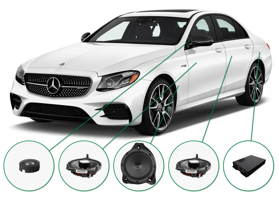 mercedes e klasse audio upgrade set 1