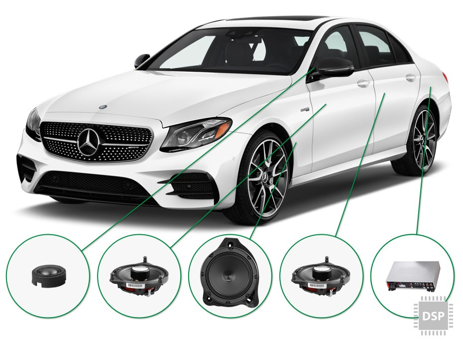 mercedes e klasse audio upgrade set 2