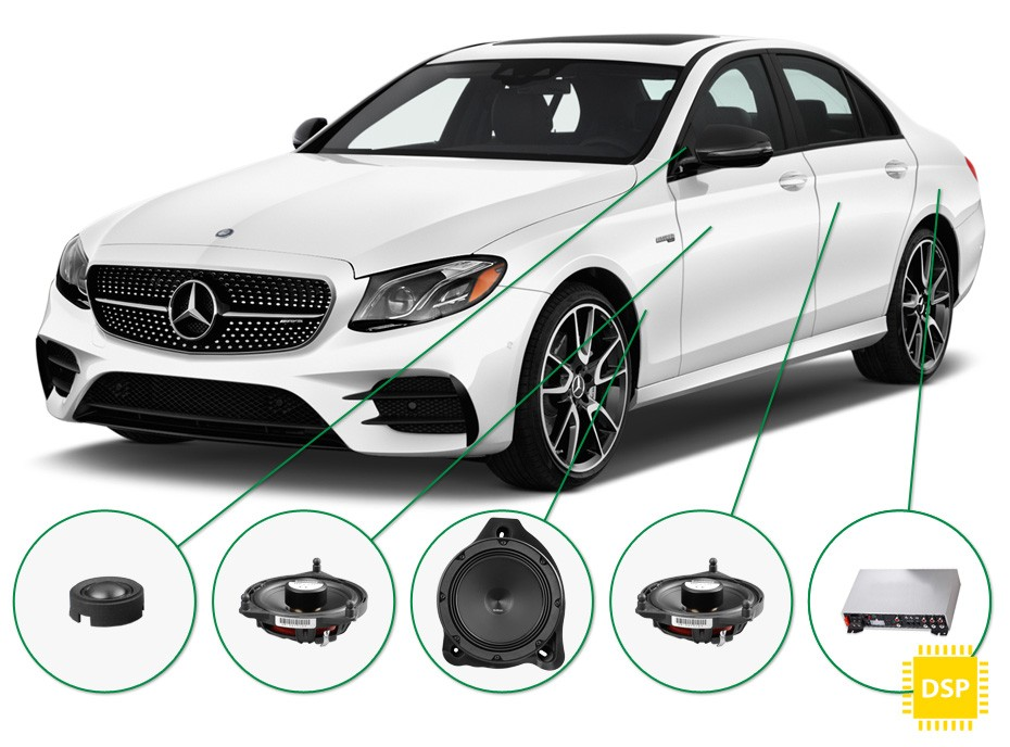 mercedes e klasse audio upgrade set 3