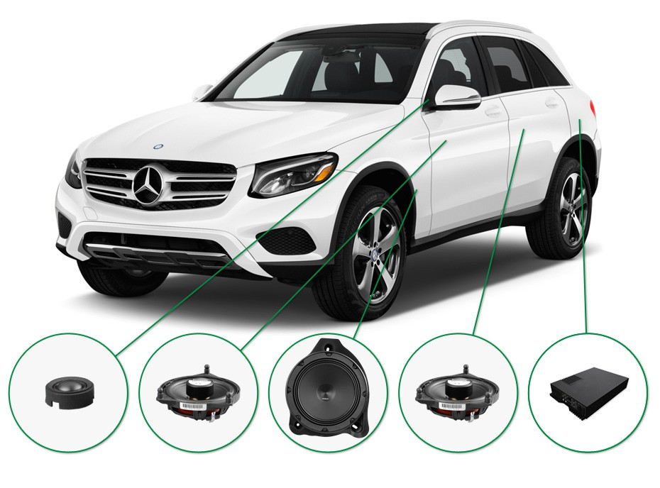 Mercedes GLC Audio Upgrade set 1