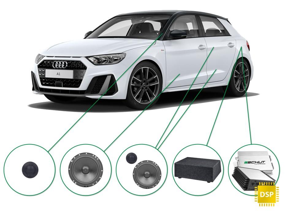 Audi A1 audio upgrade set 1