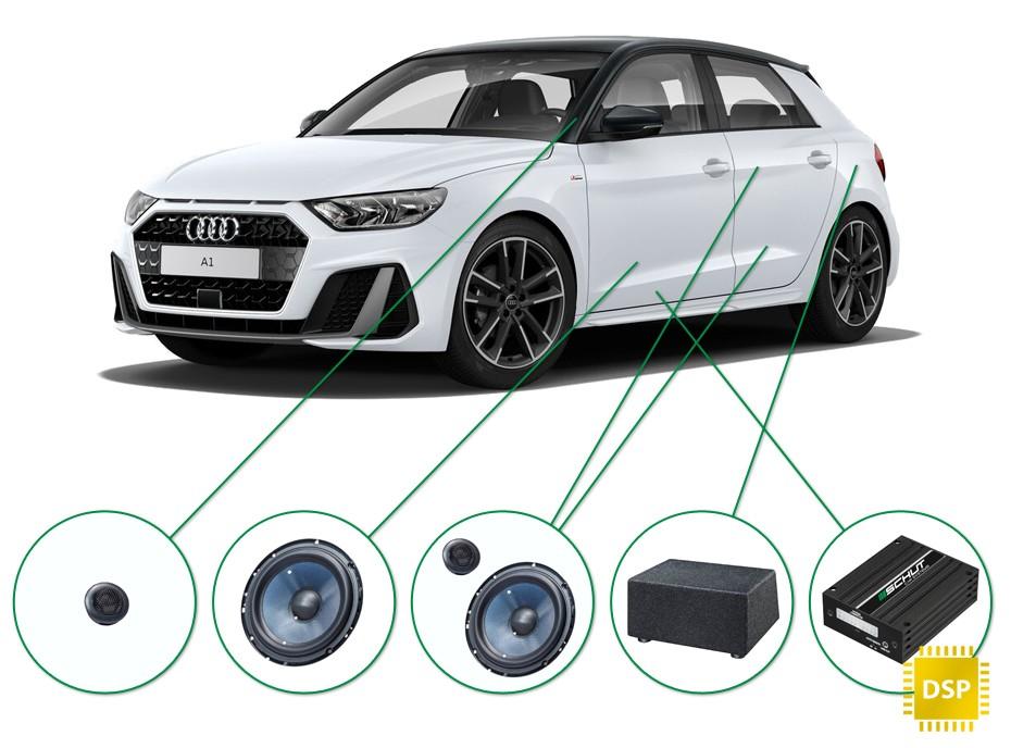 Audi A1 audio upgrade set 2