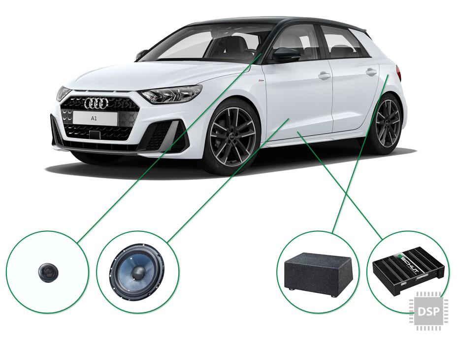 Audi A1 audio upgrade set 3