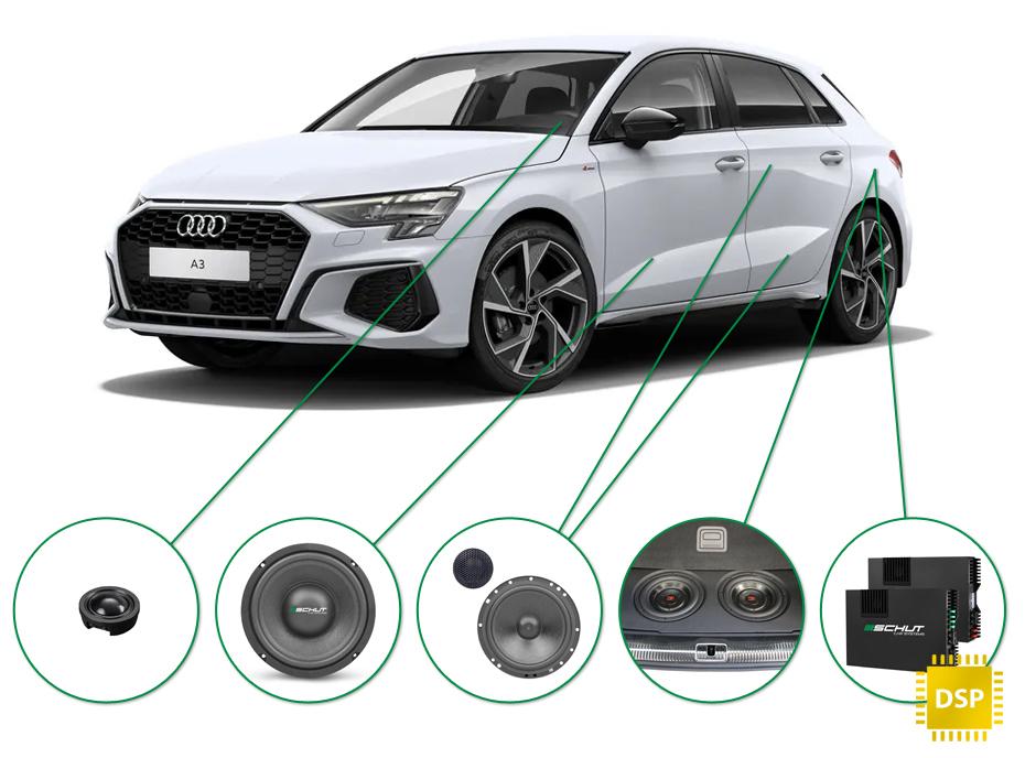 Audi A3 audio upgrade set 1