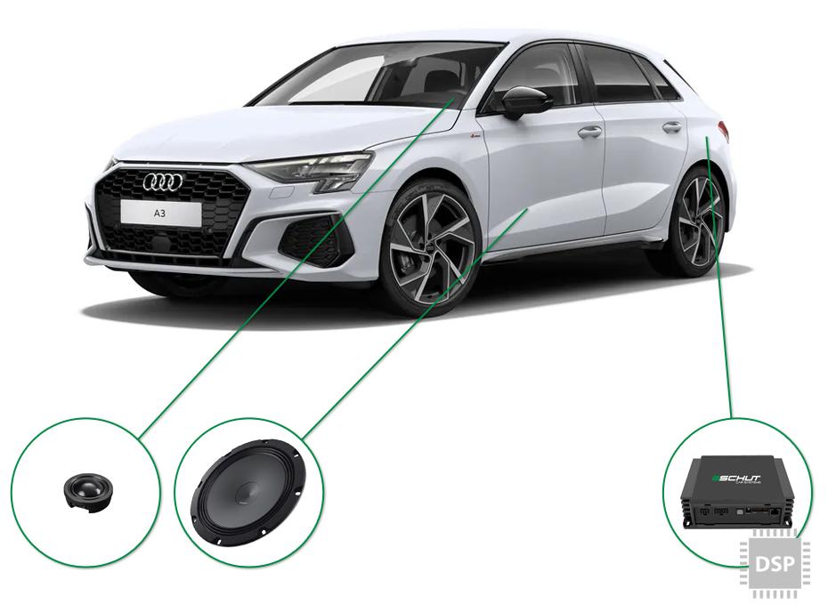 Audi A3 audio upgrade set 5