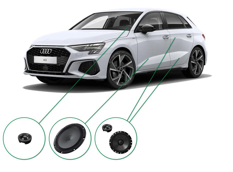Audi A3 audio upgrade set 7