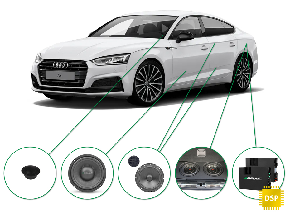 Audi A5 audio upgrade set 1
