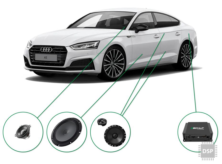 Audi A5 audio upgrade set 4