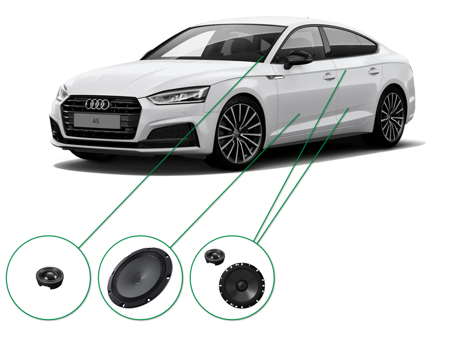 Audi A5 audio upgrade set 7