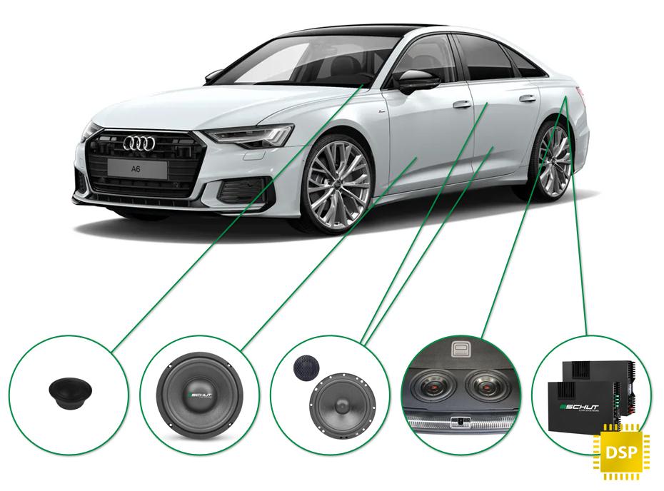 Audi A6 audio upgrade set 1