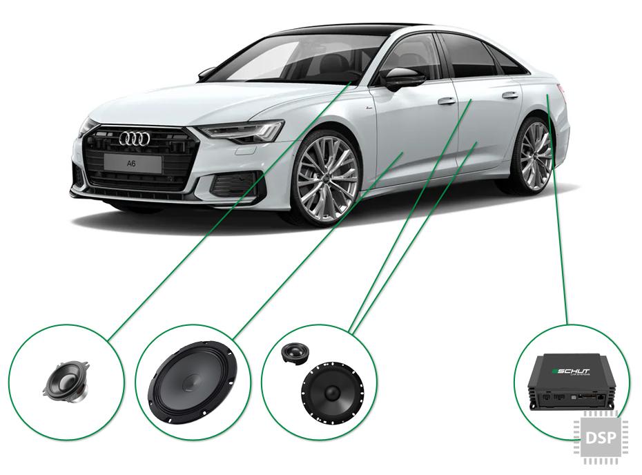 Audi A6 audio upgrade set 3