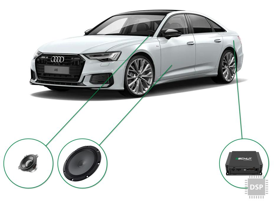 Audi A6 audio upgrade set 5