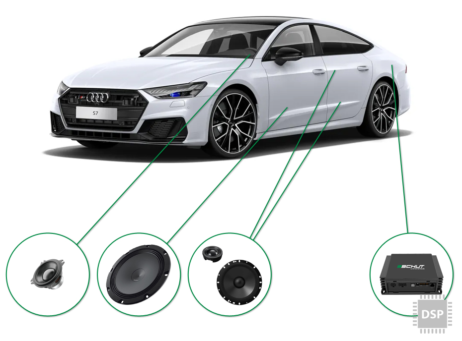 Audi A7 audio upgrade set 4