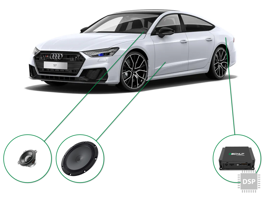 Audi A7 audio upgrade set 5