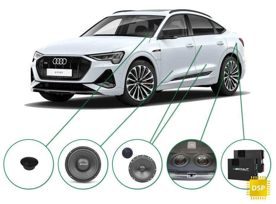 Audi e-tron 50/55 audio upgrade audio upgrade set 1