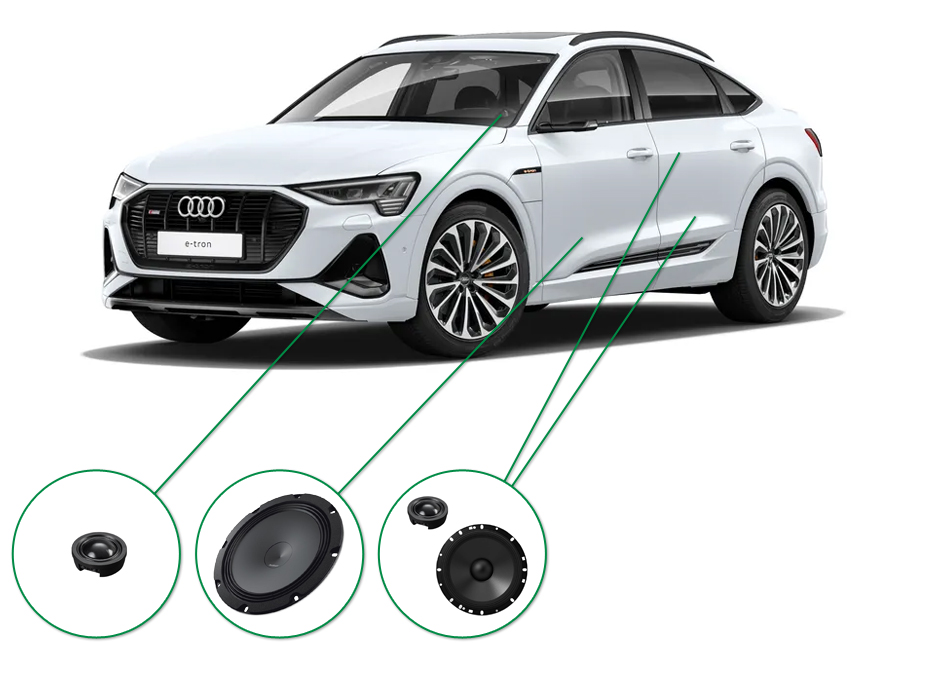 Audi e-tron 50/55 audio upgrade audio upgrade set 7