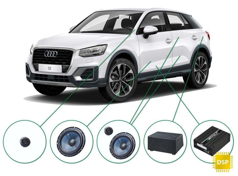 Audi Q2 audio upgrade set 2