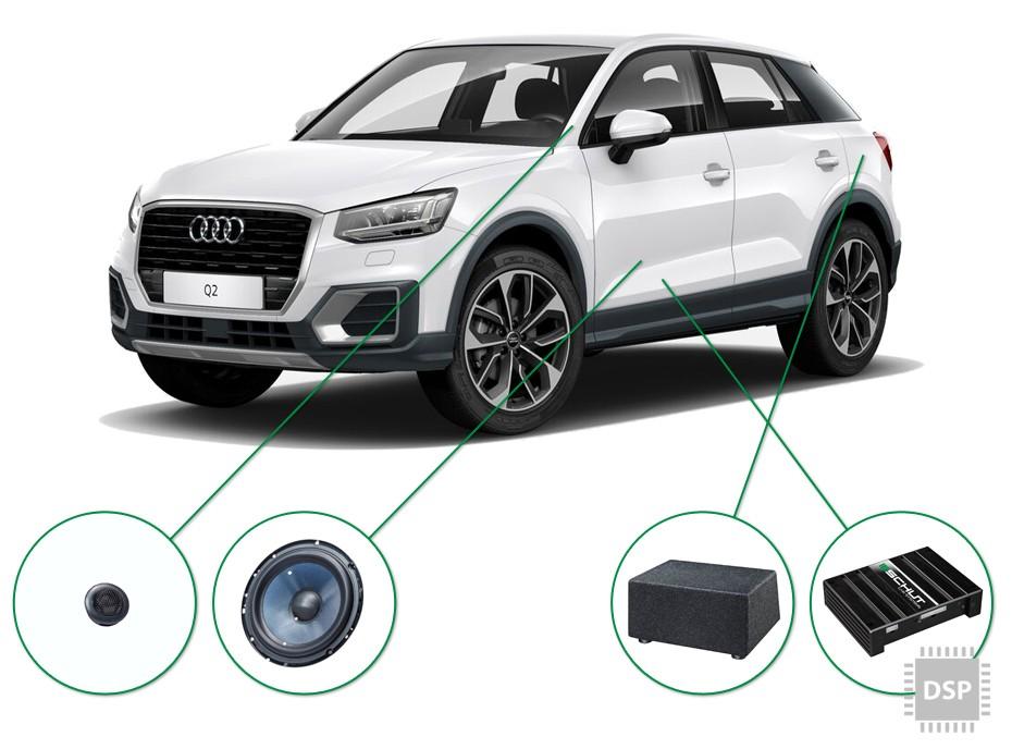 Audi Q2 audio upgrade set 3