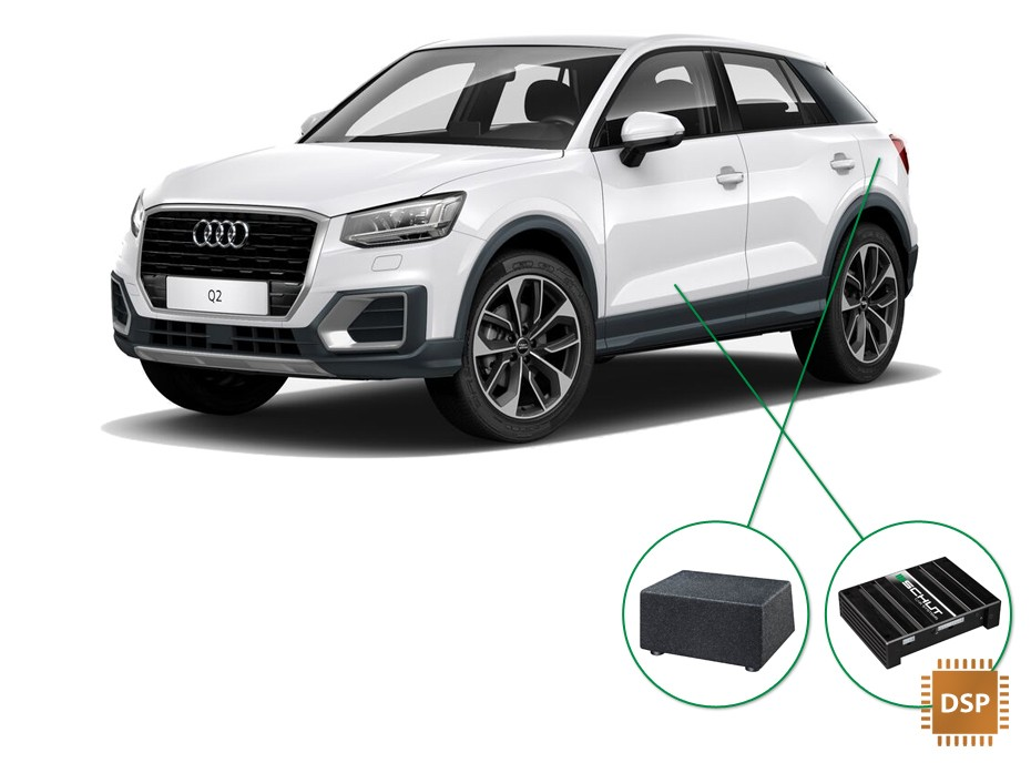 Audi Q2 audio upgrade set 4