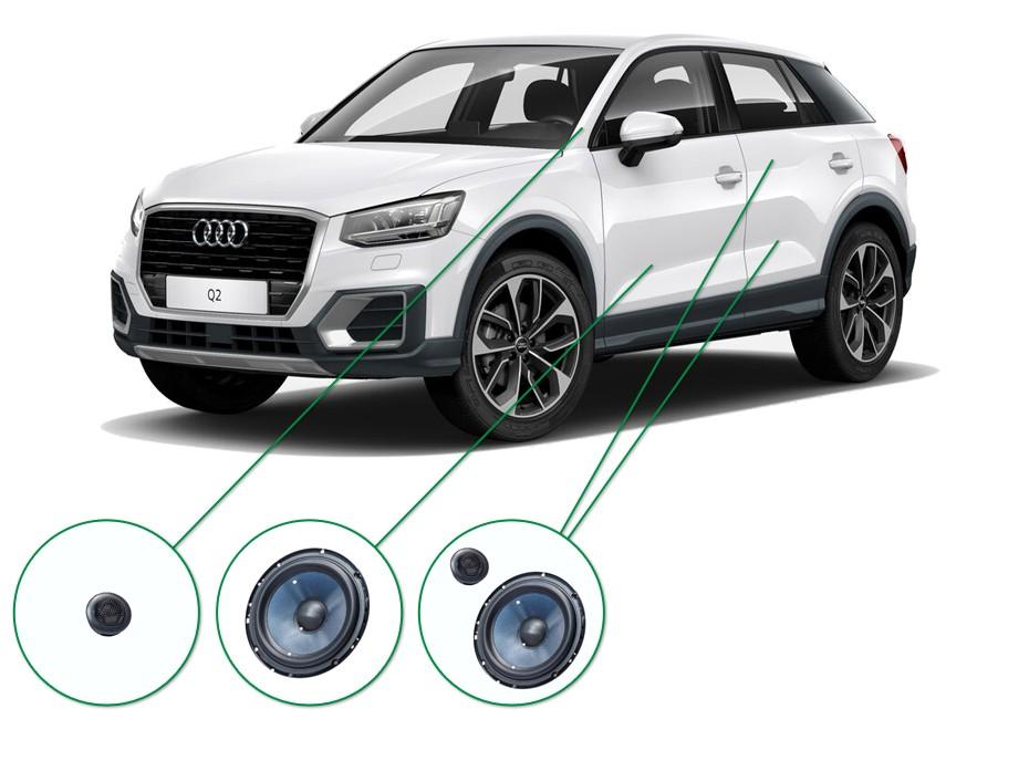 Audi Q2 audio upgrade set 5