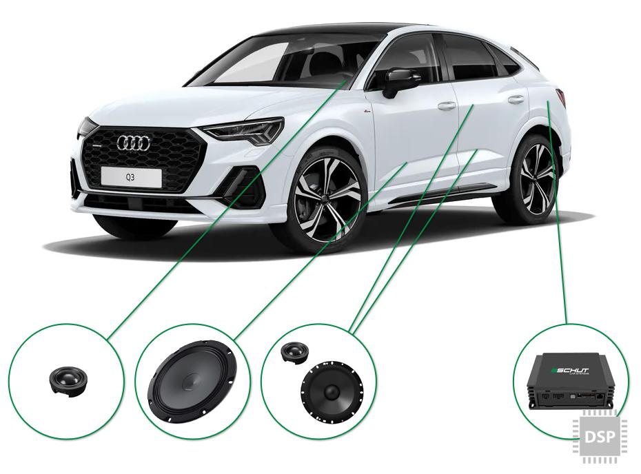 Audi Q3 audio upgrade set 4
