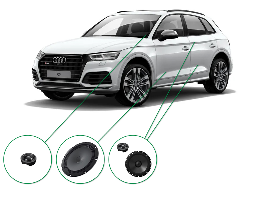 Audi Q5 audio upgrade set 7
