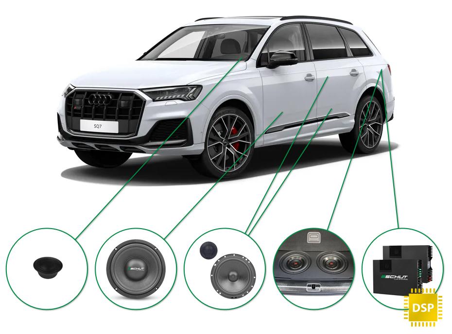 Audi Q7 audio upgrade set 1