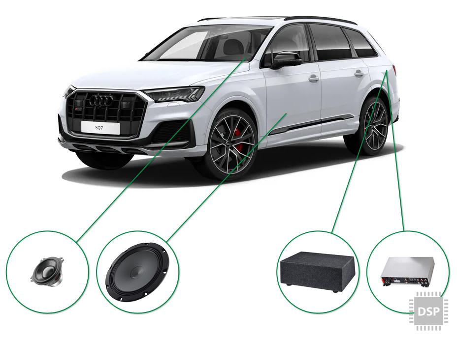 Audi Q7 audio upgrade set 3