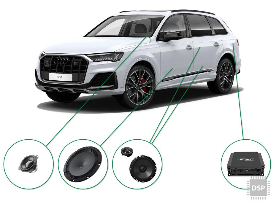 Audi Q7 audio upgrade set 4