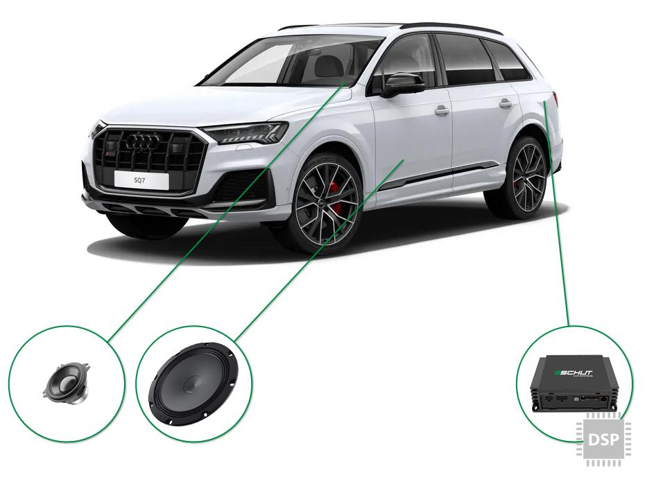 Audi Q7 audio upgrade set 5